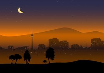 Stadt-am-Abend