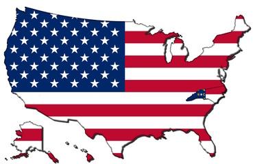 North Carolina mit den vereinigten Staaten