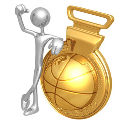 Gold Medal Basketball Winner