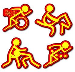 Sports Icons (Triathlon/Equestrian/Wrestling/Pentathlon)