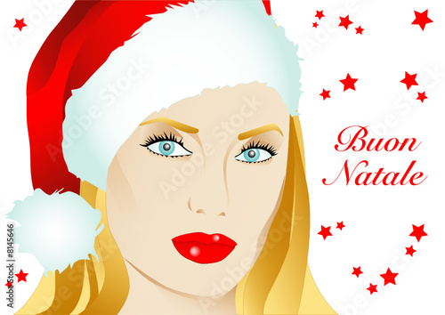 Immagini Babbo Natale Donna.Babbo Natale Donna Stock Image And Royalty Free Vector