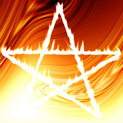Pentagram on fire