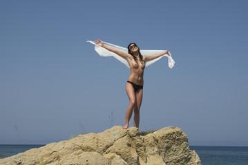 Topless Urlaubsfreiheit