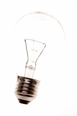 Light-bulb on white background