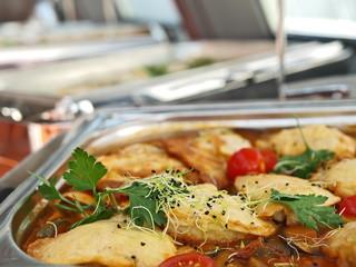 kalbsschnitzel piccata milanese, hauptgerichte büffet
