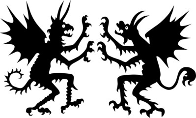two devil silhouettes