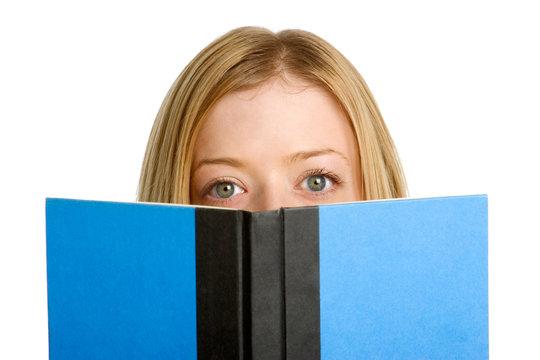 Woman Behind Book