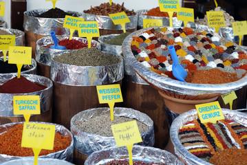 Diferent coloured spices
