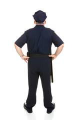 Police Officer Full Body Rear