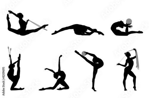 Gymnastique rythmique 2 sr photo libre de droits sur la - Dessin de grs ...