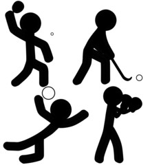 Sports Icons (TableTennis/Hockey/VolleyBall/Boxing)