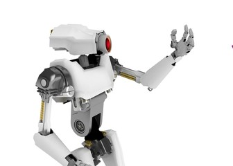 Robot, Looking at Hand