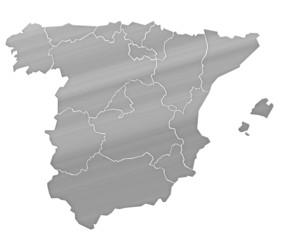 Carte Espagne Argent