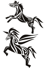 tattoo horse and unicorn