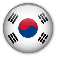 South Korean button flag