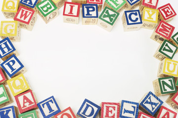 Alphabet Blocks with Copy Space at Centre