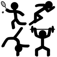 Sports Icons (Athletics/Tennis/Gymnastics/Weightlifting)