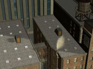 3D Render einer Stadt