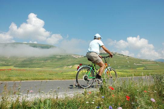 Bicicletta a Castelluccio di Norcia