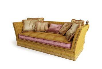 3d sofa on white background