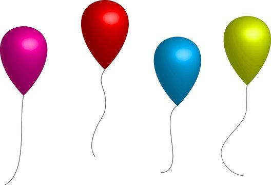 Ballons couleur 3D