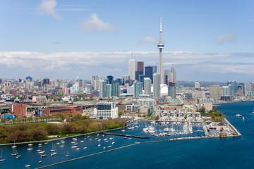 Deurstickers Toronto Toronto birds view CN tower