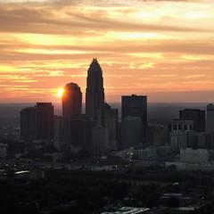 Charlotte, NC skyline.