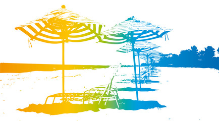 ambiance playa parasol colors