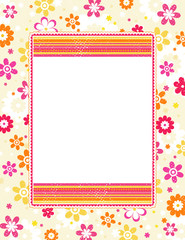 color background with decorative flowers