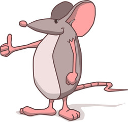 Thumbs-up mouse