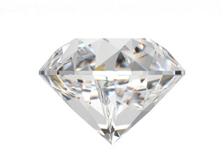Front view of diamond