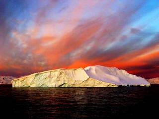 Printed kitchen splashbacks Antarctic Sunrise, Antarctica