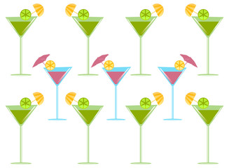 Summertime cocktails party background
