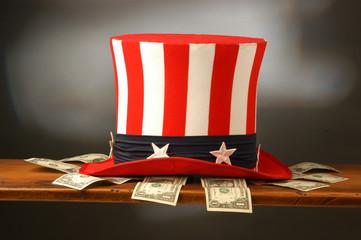 Fototapeta Dollari con cappello dello zio sam obraz