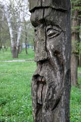 Slavic wooden idol