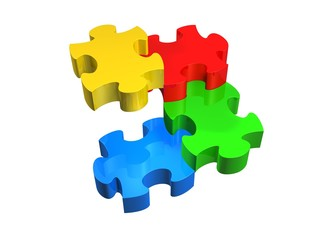 Bunte Puzzle Stufen