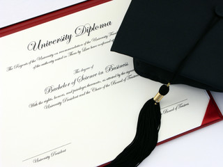Graduation Diploma and Cap