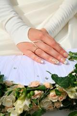 Hands of bride