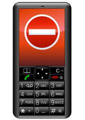 Téléphone portable avec interdit (détouré)