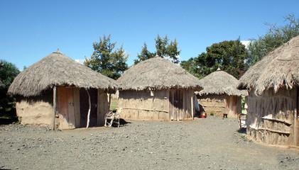 African Maasai Village in Tanzania Wall mural