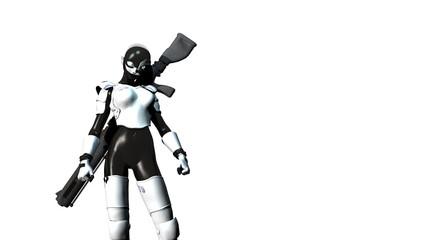 female cyborg sniper