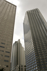 Office buildings in Downtown Miami in a cloudy day