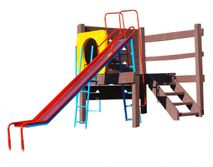 Children's Playground Equipment with cliping path