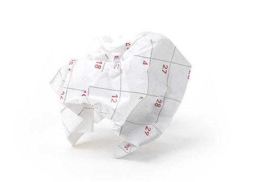 Calendar paper ball