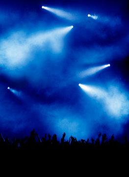 Blaue Licht-Show