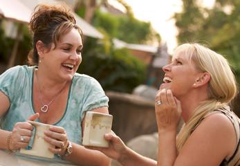 Girlfriends Enjoy A Conversation