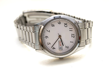 Watch with a white background