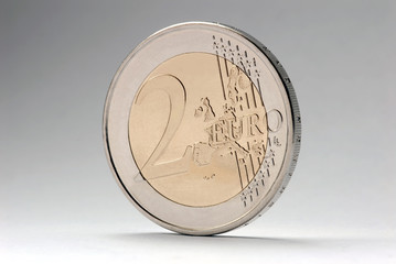 Stehende 2 Euro Münze