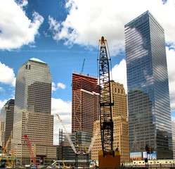 Skyscrapers in construction