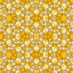 Seamless brown ornament pattern